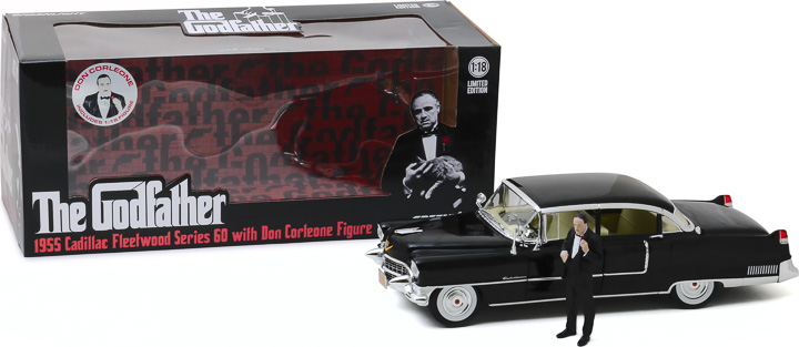 13531 - 1:18 The Godfather (1972) - 1955 Cadillac Fleetwood Series 60 Special with Don Corleone Figure