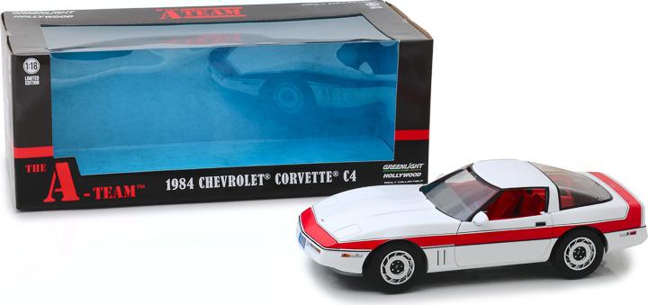 13532 - 1:18 The A-Team (1983-87 TV Series) - 1984 Chevrolet Corvette C4