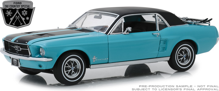 13535 - 1:18 1967 Ford Mustang Coupe Ski Country Special - Winter Park Turquoise