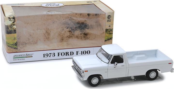 13536 - 1:18 1973 Ford F-100 - White