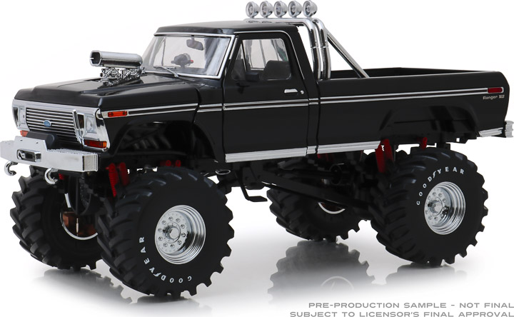 13538 - 1:18 Kings of Crunch - 1979 Ford F-250 Monster Truck - Black with 48-Inch Tires