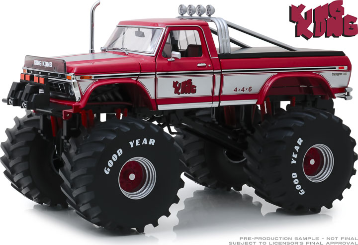 13539 - 1:18 Kings of Crunch - King Kong - 1975 Ford F-250 Monster Truck with 66-Inch Tires