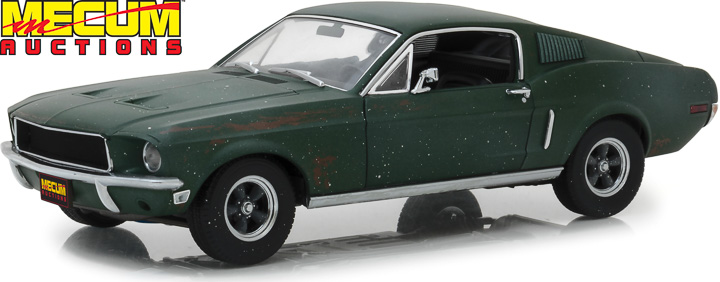 1:18 Mecum Auctions Collector Cars - Unrestored Bullitt 1968 Ford Mustang GT Fastback - Kissimmee 2020