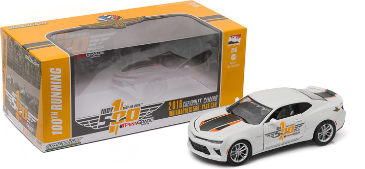 1:24 2016 Indianapolis 500 Pace Car - 2017 Chevrolet Camaro SS - 50th Anniversary Edition (New Tooling)