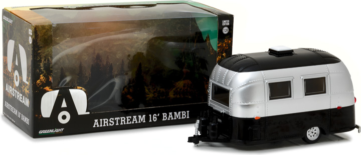 18226 - 1:24 Airstream 16' Bambi Sport - Silver and Black