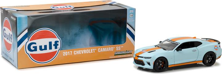 18233 - 1:24 2017 Chevy Camaro SS Gulf Oil - 2017 Chevy Camaro SS Gulf Oil