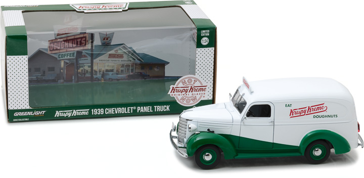 18240 - 1:24 Running on Empty - 1939 Chevrolet Panel Truck Krispy Kreme Doughnuts