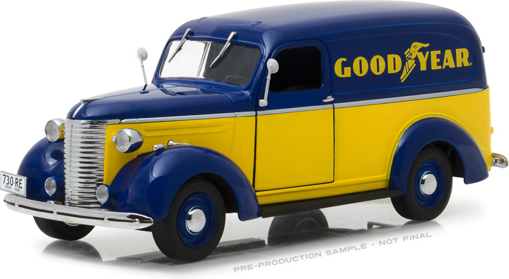18243 - 1:24 Running on Empty - 1939 Chevrolet Panel Truck - Goodyear Tires