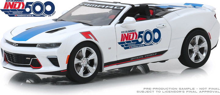 18247 - 1:24 2017 Chevrolet Camaro Convertible - 101 Running Indy 500 Presented by PennGrade Motor Oil 500 Festival Event Car