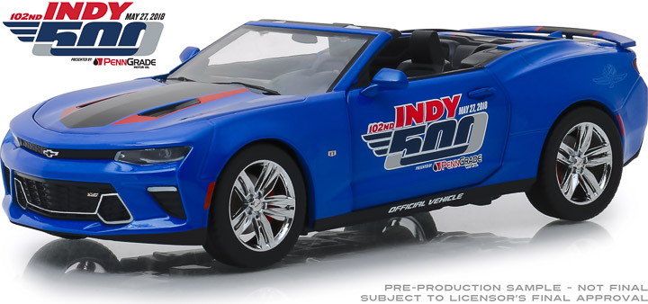18248 - 1:24 2018 Chevrolet Camaro Convertible - 102nd Indy 500 Presented by PennGrade Motor Oil 500 Festival Event Car