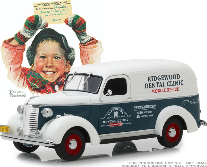 18249 - 1:24 Norman Rockwell Delivery Vehicles - 1939 Chevrolet Panel Truck