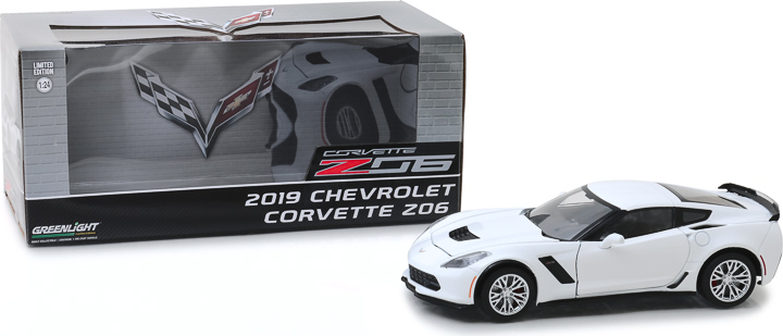 18250 - 1:24 2019 Chevrolet Corvette Z06 Coupe - Arctic White