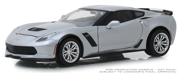 18256 - 1:24 2019 Chevrolet Corvette Z06 Coupe - Blade Silver Metallic