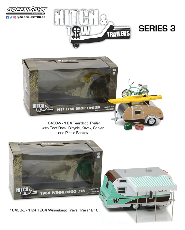 18430 - 1:24 Hitch & Tow Trailers Series 3