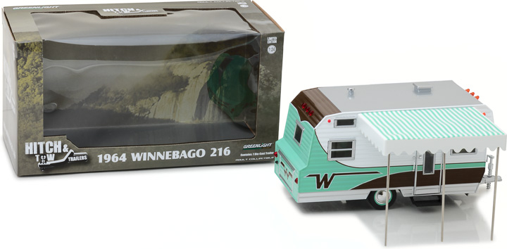 18430-B - 1:24 Hitch & Tow Trailers - 1964 Winnebago Travel Trailer 216