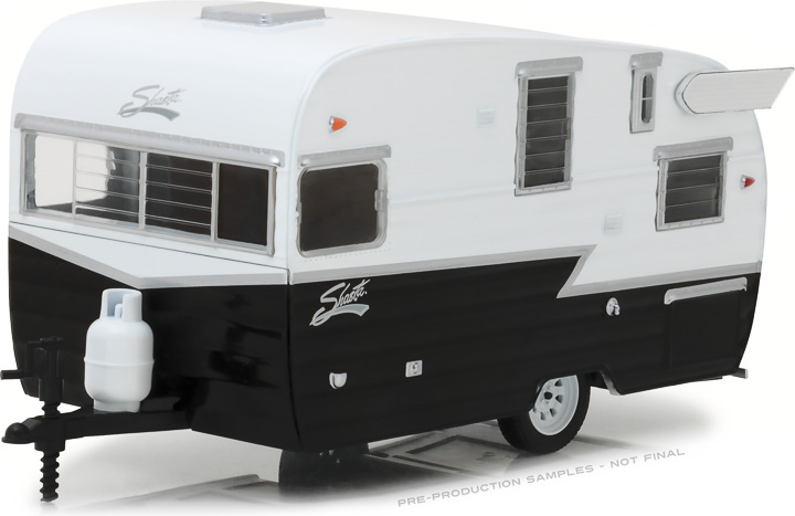 1:24 Hitch & Tow Trailers Series 4 - Shasta 15' Airflyte - White and Black