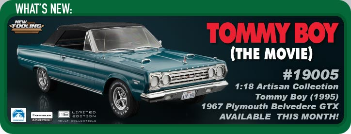 1:18 Artisan Collection - Tommy Boy (1995) - 1967 Plymouth Belvedere GTX Convertible (Top Up)