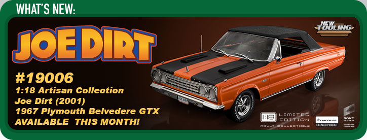 1:18 Artisan Collection - Joe Dirt (2001) - 1967 Plymouth Belvedere GTX Convertible