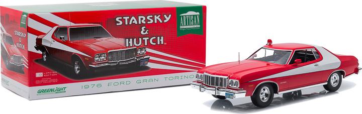 Ford Gran Torino 1979 STARSKY /& HUTCH 1//18-19017 GREENLIGHT ARTISAN