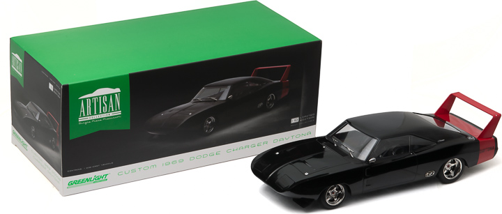 1:18 Artisan Collection - 1969 Dodge Charger Daytona Custom - Black with Red Rear Wing