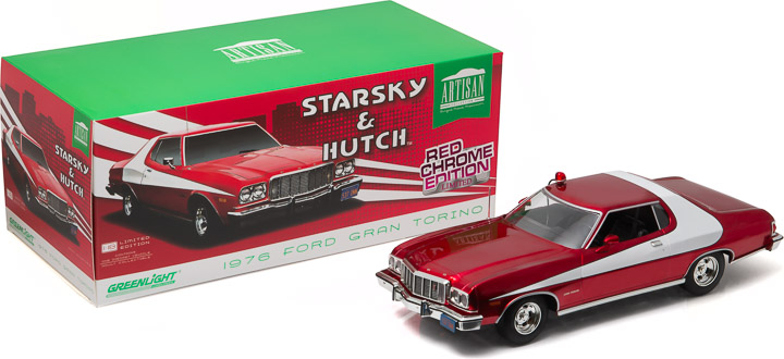1:18 Artisan Collection - Starsky and Hutch (TV Series 1975-79) - 1976 Ford Gran Torino - Red Chrome Edition