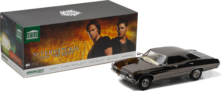 1:18 Artisan Collection - Supernatural (TV Series 2005–) 1967 Chevrolet Impala Sport Sedan - Black Chrome Edition