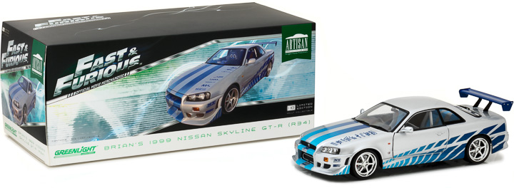 1:18 Artisan Collection - Fast and Furious - 2 Fast 2 Furious (2003) - 1999 Nissan Skyline GT-R (R34)