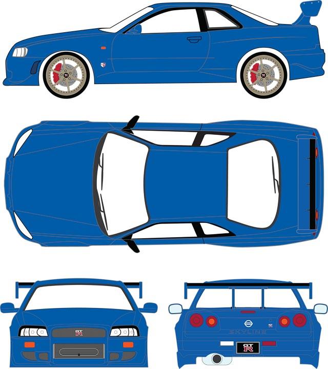 19032 - 1:18 Artisan Collection - 1999 Nissan Skyline GT-R (R34)