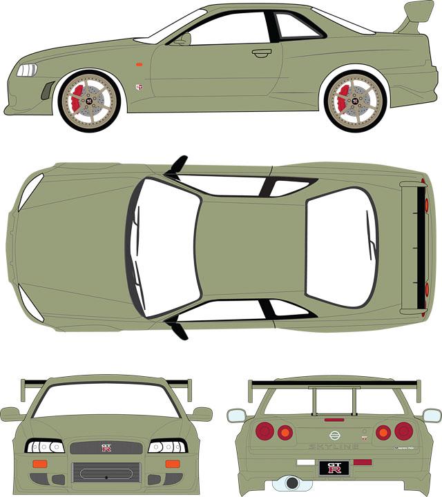 19033 - 1:18 Artisan Collection - 1999 Nissan Skyline GT-R (R34)