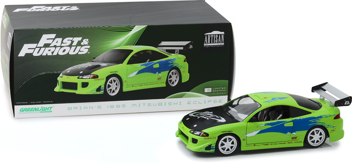 19039 - 1:18 Artisan Collection - The Fast and the Furious (2001) - 1995 Mitsubishi Eclipse