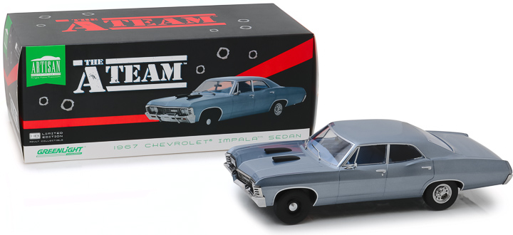 19047 - 1:18 Artisan Collection - The A-Team (1983-87 TV Series) - 1967 Chevrolet Impala Sedan
