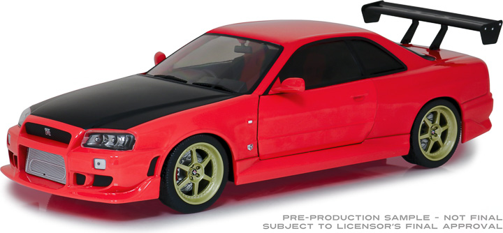 19052 - 1:18 Artisan Collection - 1999 Nissan Skyline GT-R (R34) - Red with LED Neon Light Underglow