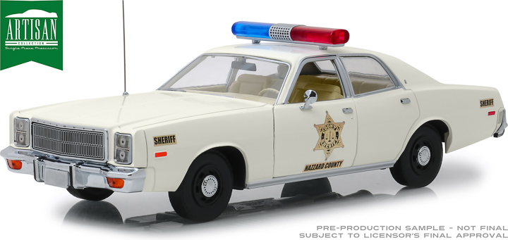 19055 - 1:18 Artisan Collection - 1977 Plymouth Fury - Hazzard County Sheriff