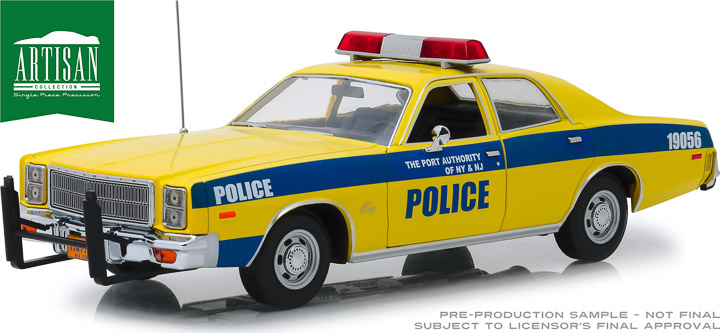 19056 - 1:18 Artisan Collection - 1977 Plymouth Fury - Port Authority of New York & New Jersey Police