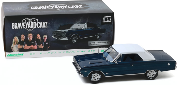 19059 - 1:18 Artisan Collection - Graveyard Carz (2012-Current TV Series) - 1967 Plymouth Belvedere GTX Convertible
