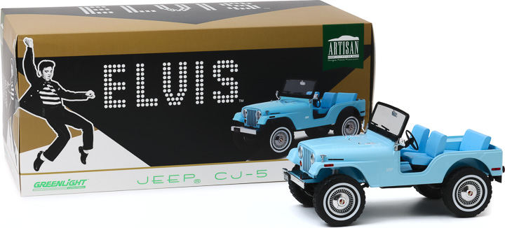 19061 - 1:18 Artisan Collection - Elvis Presley (1935-77) - Jeep CJ-5 - Sierra Blue