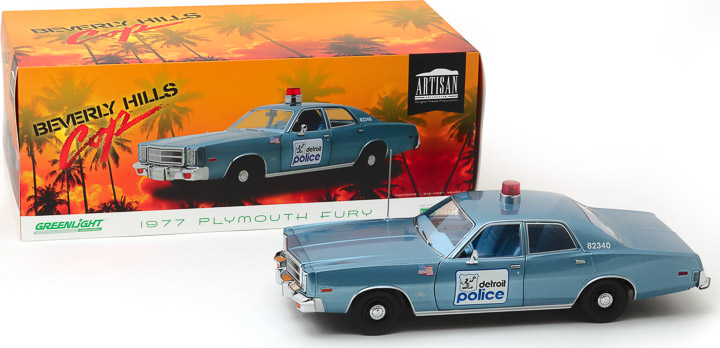19069 - 1:18 Artisan Collection - Beverly Hills Cop (1984) - 1977 Plymouth Fury Detroit Police
