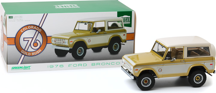 19071 - 1:18 Artisan Collection - 1976 Ford Bronco - Colorado Gold Rush Bicentennial Special Edition