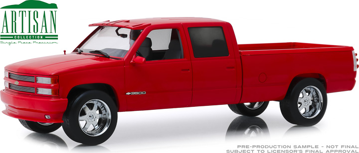 19073 - 1:18 Artisan Collection - 1997 Chevrolet 3500 Crew Cab Silverado - Victory Red