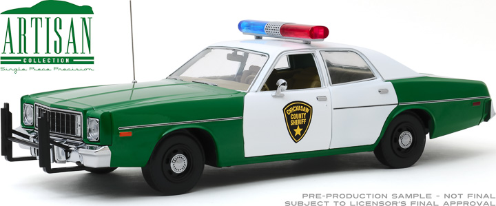 19076 - 1:18 Artisan Collection - 1975 Plymouth Fury - Chickasaw County Sheriff