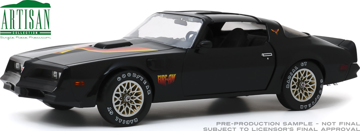 19080 - 1:18 Artisan Collection - 1977 Pontiac Firebird Fire Am by Very Special Equipment (VSE) - Black with Hood Bird