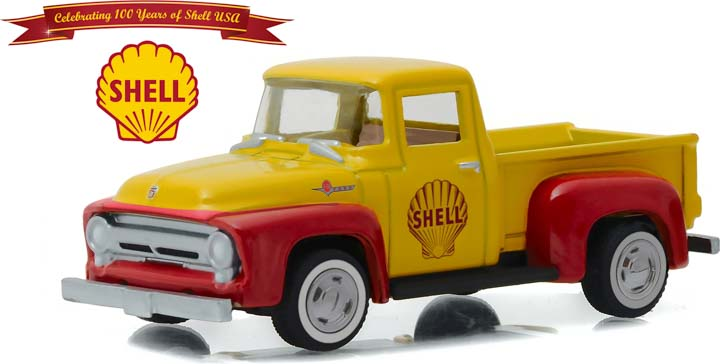 27890-A - 1:64 Anniversary Collection Series 4 - 1956 Ford F-100 Shell Oil 100th Anniversary Solid Pack