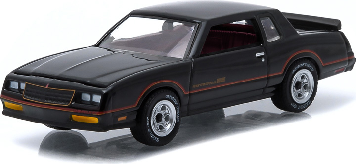 1985 Chevy Monte Carlo SS Black with Red Stripes