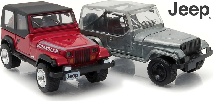 1987-95 Jeep Wrangler YJ 1:64 firstcut Hobby Exclusive 2-Car Set