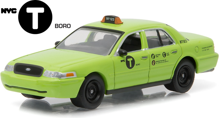 1:64 2011 Ford Crown Victoria NYC Boro Taxi (Hobby Exclusive)