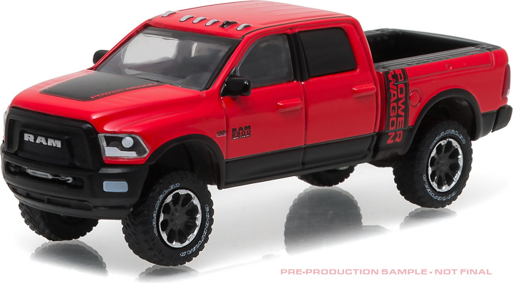 1:64 2017 Ram 2500 Power Wagon - Flame Red with Black (Hobby Exclusive)