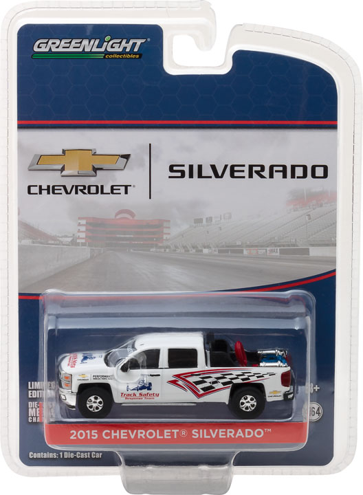 29874 - 1:64 2015 Chevy Silverado Track Safety Response Team with Safety Equipment in Truck Bed (Hobby Exclu - 2015 Chevy Silverado Track Safety Response Team