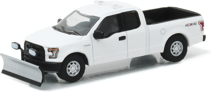 29875 - 1:64 2015 Ford F-150 with Emergency Light Bar and Snow Plow - 2015 Ford F-150