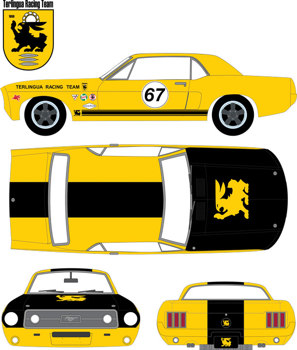 29876 - 1:64 1967 Ford Terlingua Continuation Mustang #67 Jerry Titus & Ken Miles - 1967 Ford Terlingua Continuation Mustang #67 Jerry Titus & Ken Miles