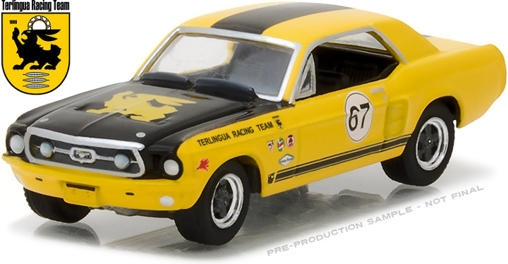 29876 - 1:64 1967 Ford Terlingua Continuation Mustang #67 Jerry Titus & Ken Miles